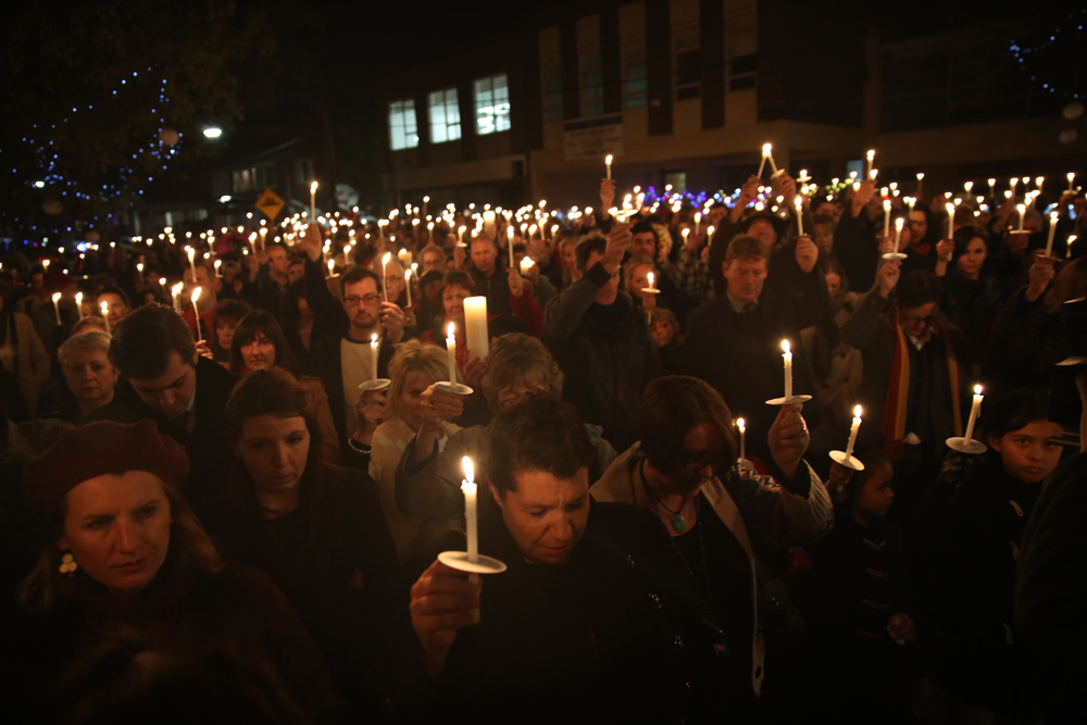 A candle light vigil held in Tracy's honour. Image: St Kilda News