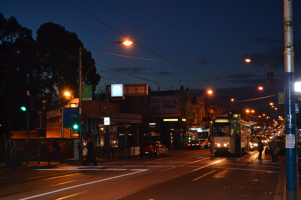 Chapel St, St Kilda. The sight of many of Melbourne's most renowned nightclubs.