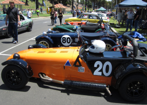Pit lane at the Geelong Revival Festival