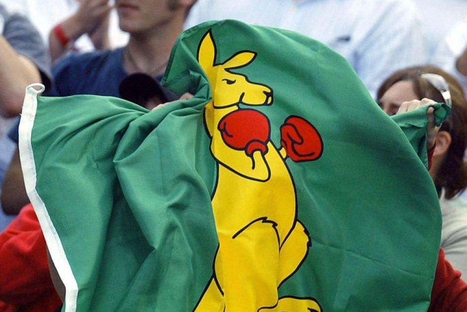 Boxing Kangaroo Australia flag.