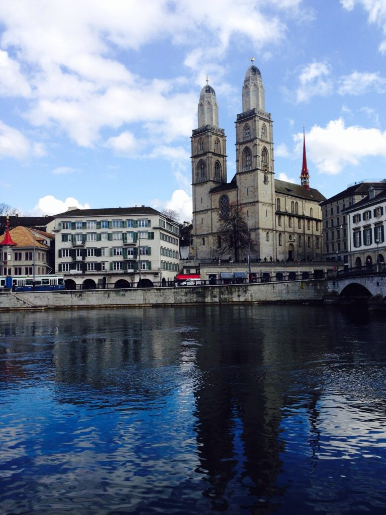 Zurich may be beautiful but that river was a road ten minutes ago.